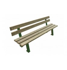 BANC SEMINE PIN DU NORD PIEDS DOUBLES RAL 9006 VERT