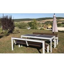 EXEMPLE BANC DOUBS VERSION COMPOSITE MARRON AVEC TABLE A1033