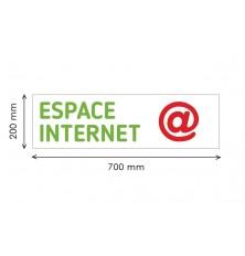 PANNEAU IMPRIME - ESPACE INTERNET