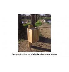 BAC ACIER GALVANISE POUR CORBEILLE VIRA