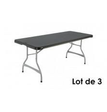 LOT DE 3 TABLES NOIRES