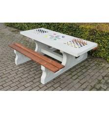 TABLE BETON MULTI JEUX - NATUREL