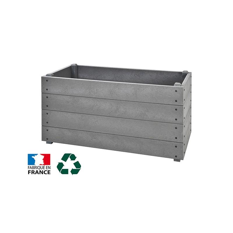JARDINIÈRE RECTANGLE PLASTIQUE RECYCLE 1200 x 600 mm