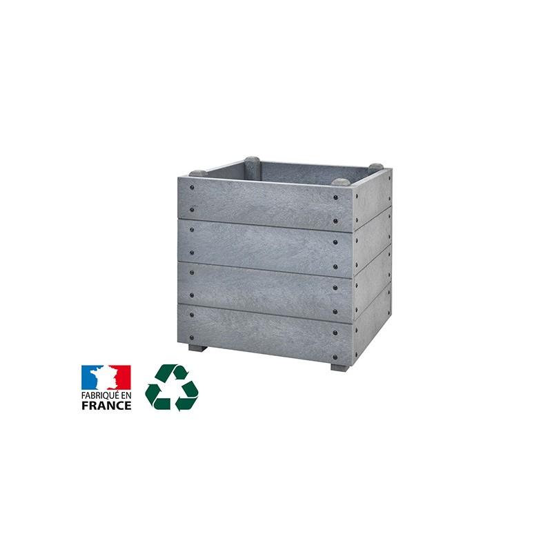 JARDINIERE CARREE PLASTIQUE RECYCLE H 600