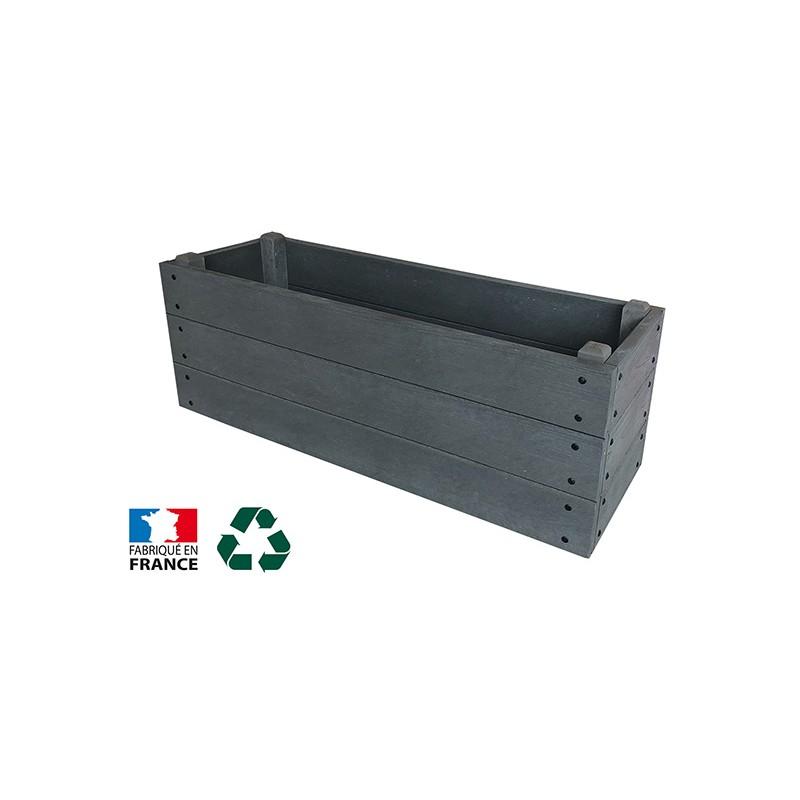 JARDINIERE RECTANGLE PLASTIQUE RECYCLE 1200 x 400 mm
