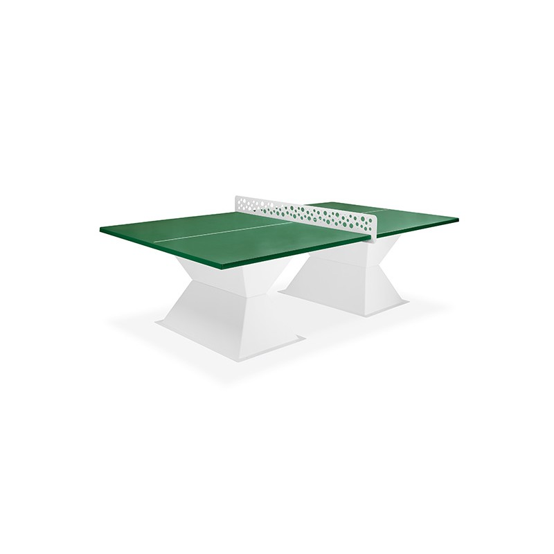 TABLE PING PONG COINS CARRES EP. 35 JADE VERT SAPIN
