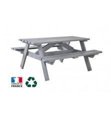 TABLE DE PIQUE NIQUE PLASTIQUE RECYCLE 1800 mm GRIS